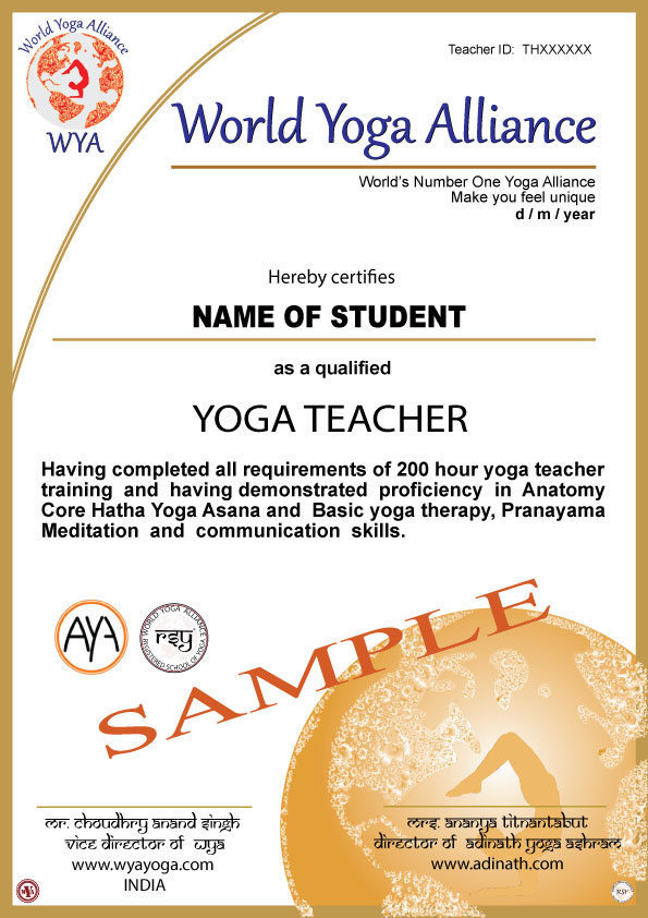 Mantrayogabangkok Yoga Teacher World Yoga Alliance Wya Yoga Wya